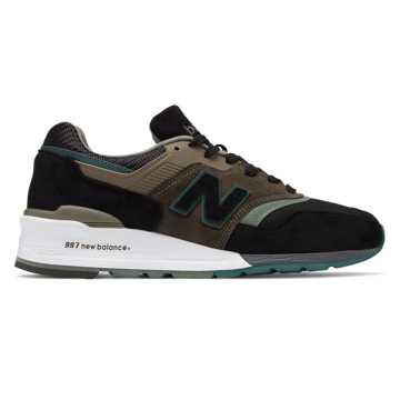 New Balance 997 Made in US, Black with Covert Green