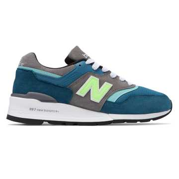 New Balance Made in US 997, Blue with Green