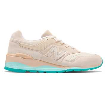 New Balance Made in US 997, Tan with Blue Agua