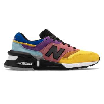 New Balance Made in US 997, Yellow with Pink