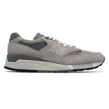 New Balance 998 Made in the USA Bringback, Light Grey with Grey
