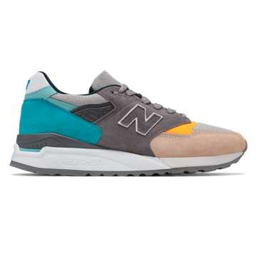New Balance 998 Made in US, Grey with Blue