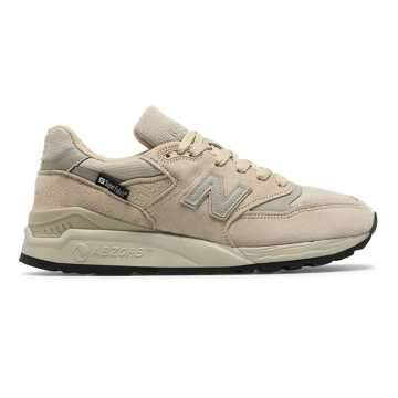 New Balance Made in US 998, Tan with Brown
