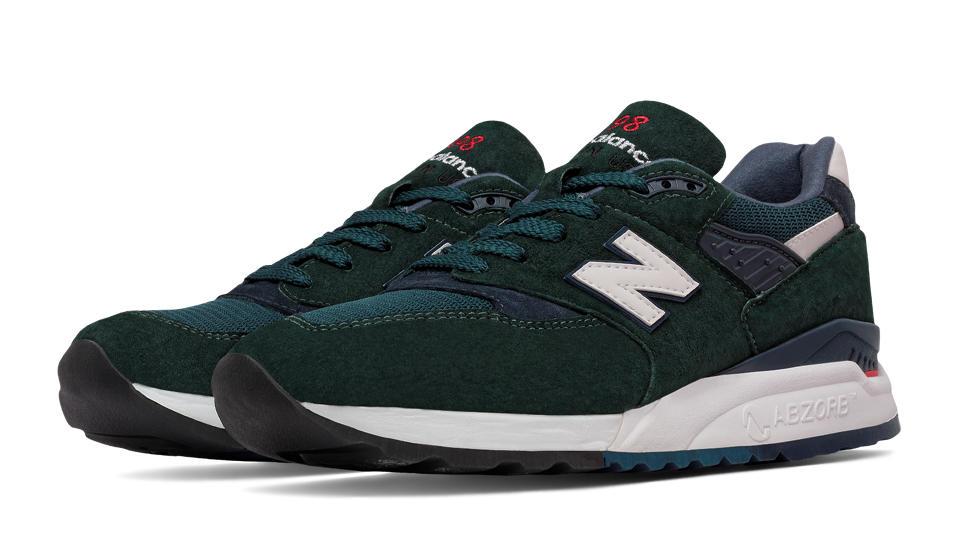 new balance green navy