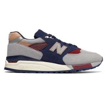 New Balance 998 Desert Heat, Grey with Navy