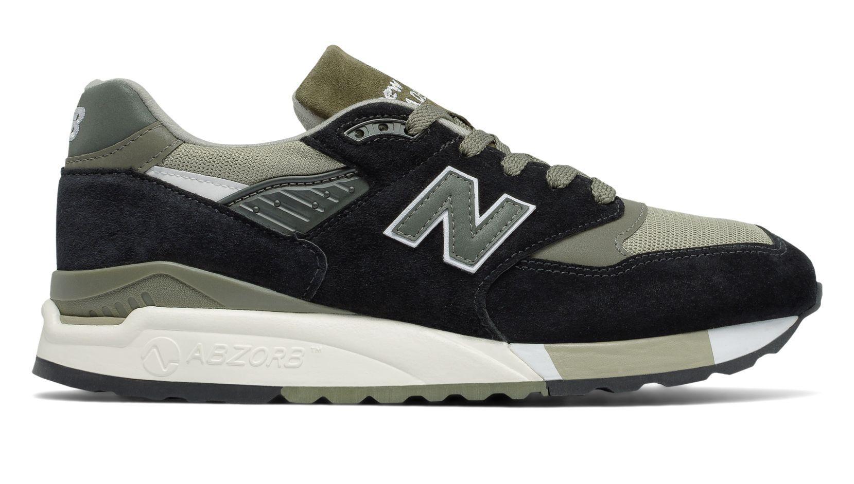 NB 998 Suede, Black with Sage