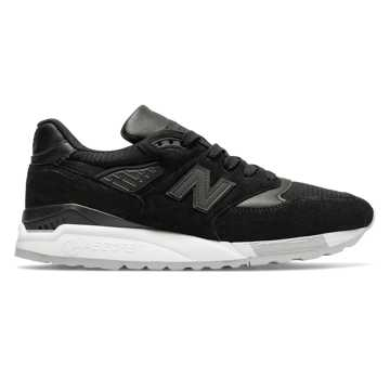 New Balance 998 Made in USA, Black with Grey