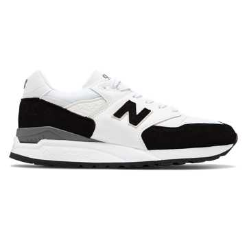 New Balance Made in US 998, Black with White
