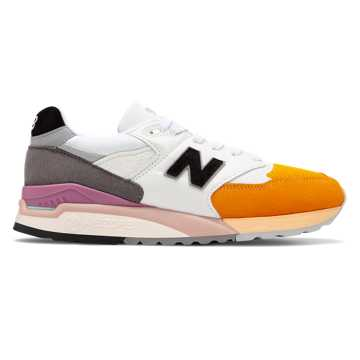 New Balance Made in US 998, Orange with Grey