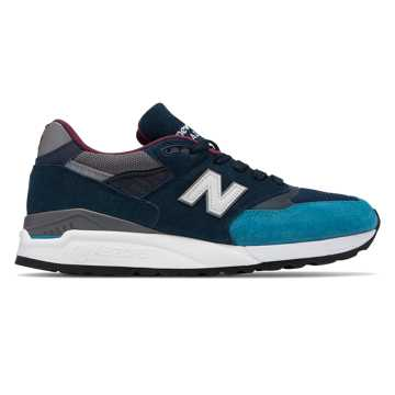 New Balance 998 Suede Made in US, Blue with Grey