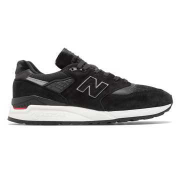 New Balance 998 Made in US, Black with Red