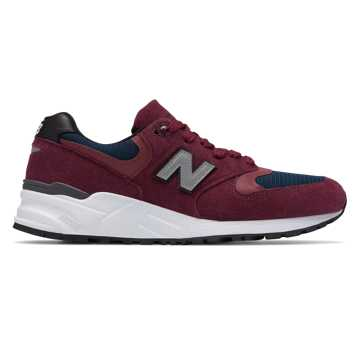 New Balance 999 Made in US, Burgundy with Navy
