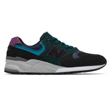New Balance 999 Made in US, Black with Teal