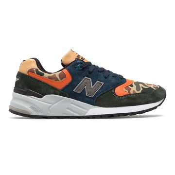 New Balance 999 Made in US, Dark Green with Navy
