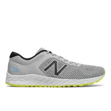 New Balance Fresh Foam Arishi v2, Light Aluminum with Black & Sulphur Yellow