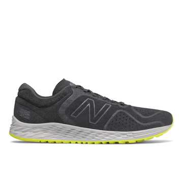 New Balance Fresh Foam Arishi v2, Black with Sulphur Yellow