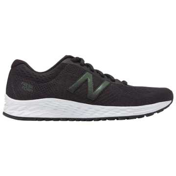 New Balance Fresh Foam Arishi Sweatshirt Refresh, Black with Phantom & Dark Covert Green