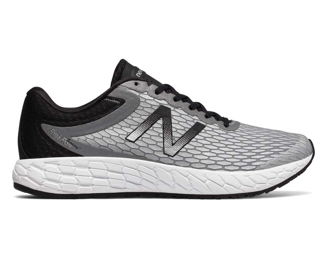 NB Fresh Foam Boracay v3, Metallic Silver with Black & White