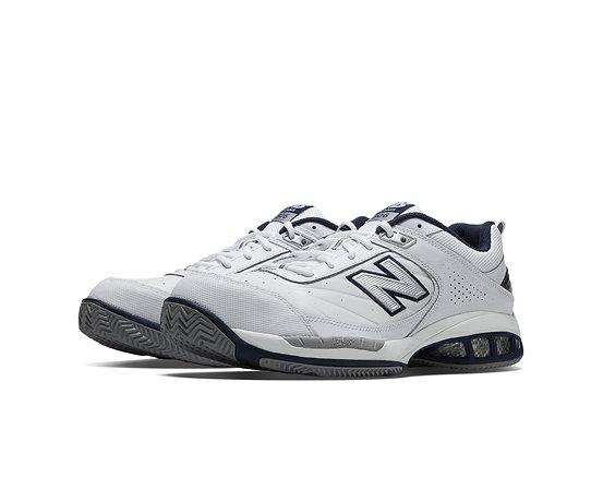 brand new 2b6b1 3f6a0 New Balance Court 806, White with Navy