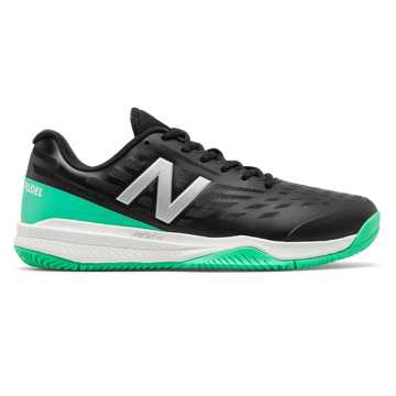 New Balance 796, Black with Neon Emerald