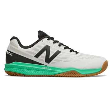 New Balance 796, White with Neon Emerald