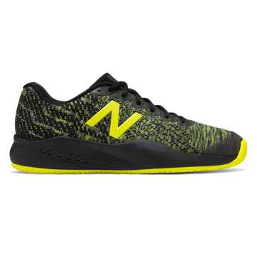 New Balance 996v3, Black with Sulphur Yellow