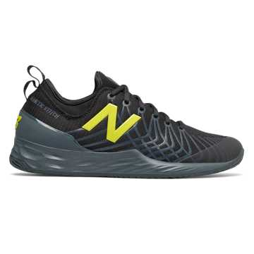 New Balance Fresh Foam Lav, Black with Iodine Violet & Sulphur Yellow