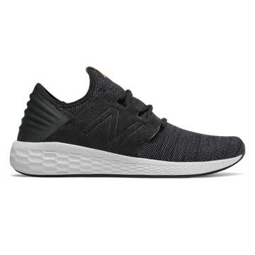 New Balance Men's Fresh Foam Cruz v2 Knit, Black with Magnet