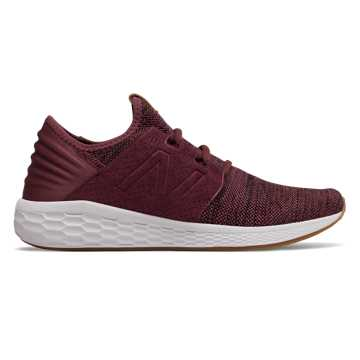 New Balance Men's Fresh Foam Cruz v2 Knit, Burgundy with Black