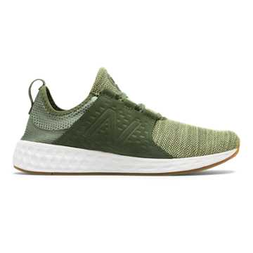 New Balance Fresh Foam Cruz, Dark Covert Green with White Munsell