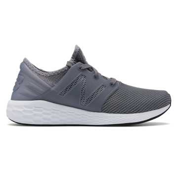 New Balance Mens Fresh Foam Cruz v2 Sport, Grey with White