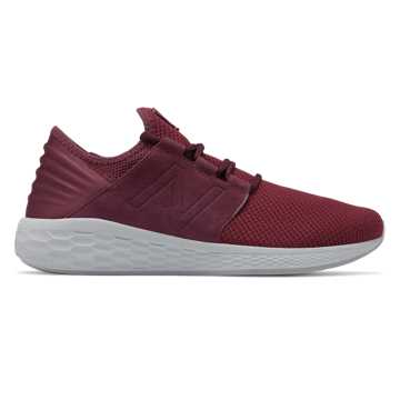 New Balance Fresh Foam Cruz v2 Nubuck, NB Burgundy with NB Scarlet