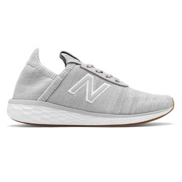 New Balance Fresh Foam Cruz v2 Sock, Rain Cloud with White