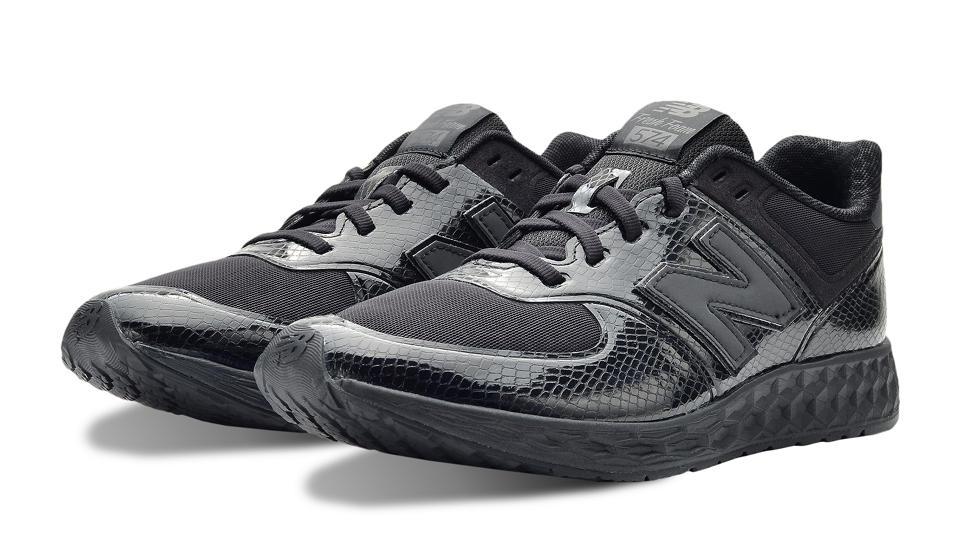 new balance running suede mesh noir