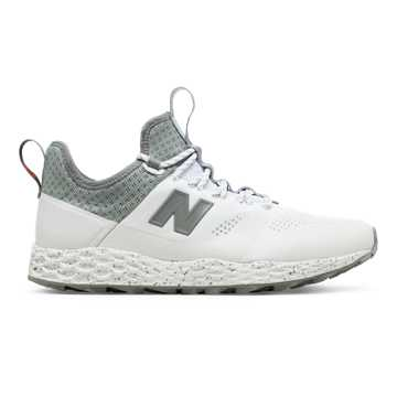 New Balance Fresh Foam Trailbuster, White with Arctic Fox