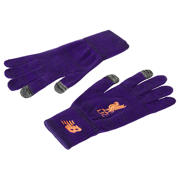 NB Liverpool FC Knitted Gloves, Deep Violet with Alpha Orange