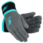 NB Liverpool FC Elite Knitted Gloves, Black with Phantom