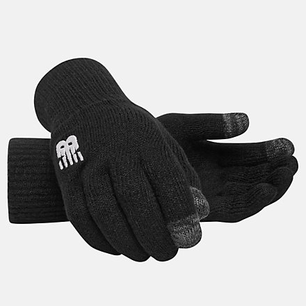 NB Team Knitted Gloves, MG934306BKW image number null