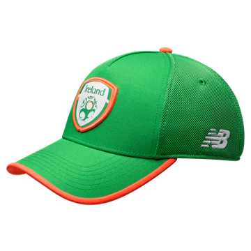 New Balance FA Ireland Elite Cap, Jolly Green with Alpha Orange