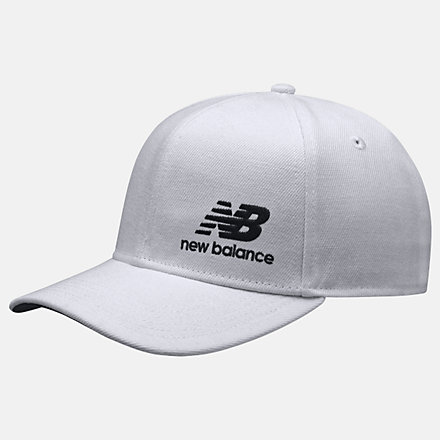 New Balance Team Stacked Snapback, MH934317WT image number null