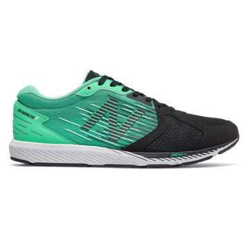 New Balance Hanzo R Mimura聯名款男款長跑運動鞋 輕量回饋 穩定競速, 黑色/綠色