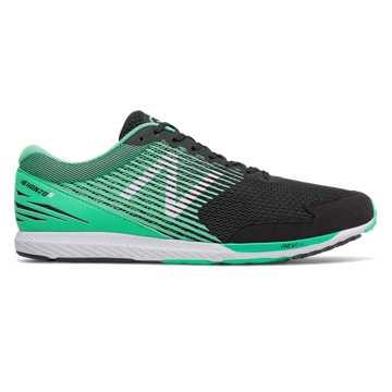 New Balance Hanzo S Mimura联名款男款长跑运动鞋 轻量缓震 快速回馈, 黑色/绿色