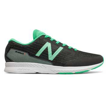 New Balance Hanzo T 男款轻量缓震快速反馈跑鞋运动鞋, 黑色/绿色