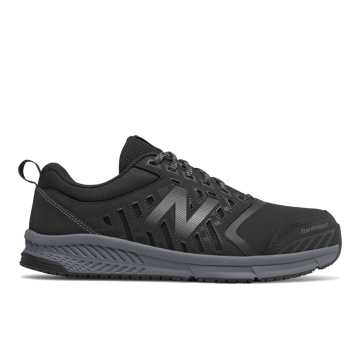 New Balance 412 Alloy Toe, Black with Silver