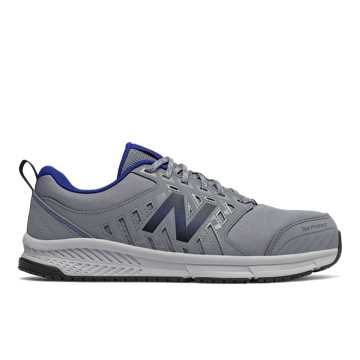 New Balance 412 Alloy Toe, Grey with Royal Blue