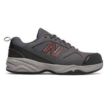 New Balance Steel Toe 627v2, Grey with Orange