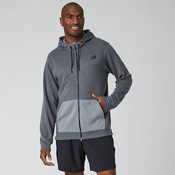 New Balance Tenacity Lightweight Full Zip Hoodie, MJ01002AG