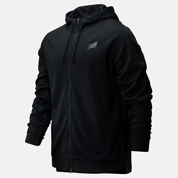 NB Tenacity Lightweight Full Zip Hoodie, MJ01002BK