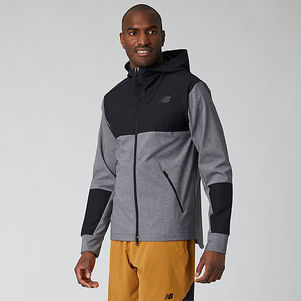 New Balance Fortitech Mixed Media Lined Jacket, MJ01140BK