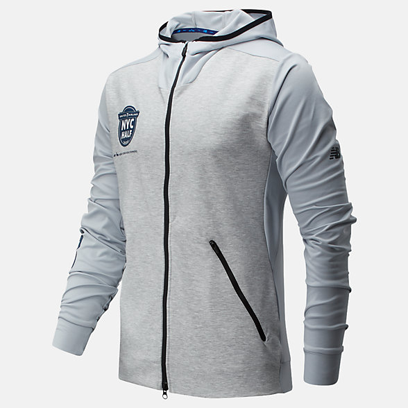 New Balance 2020 United Airlines Half Fortitech Lightweight Jacket, MJ01142CAG